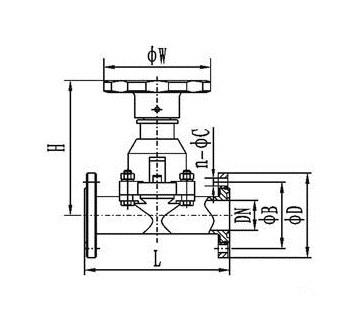 vacuum diaphragm valve drawing