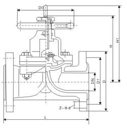 straight through diaphragm valve drawing
